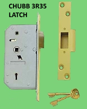 The Chubb 5 Detainer lock with slam action locking and auto deadlocking latch bolt is excellent security for entrances and escape doors and can be used ... & Chubb 3R35 5 Detainer high security nightlatch.